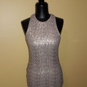 Hollister Sequin Gold Dress Sz S